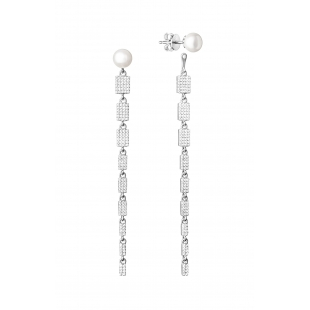 Pearl earrings with zircon...