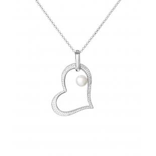 Heart-shaped pearl pendant...