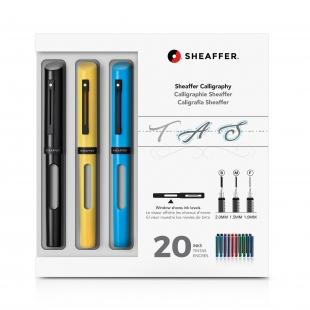Calligraphy Maxi Kit Fountain Pen Black, Yellow, Blue SHEAFFER - 1