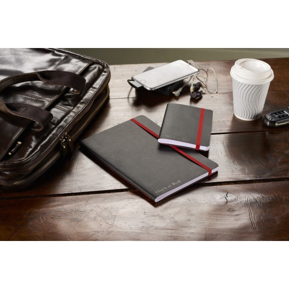 Black n Red Journal A5 Black Soft Cover OXFORD - 4