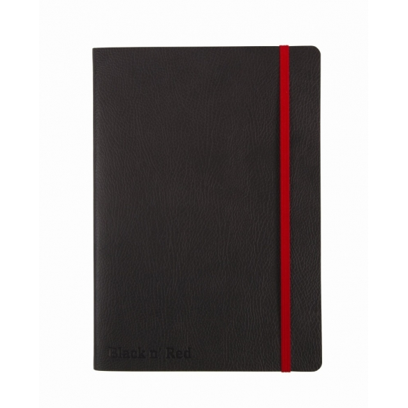 Black n Red Journal A5 Black Soft Cover OXFORD - 1