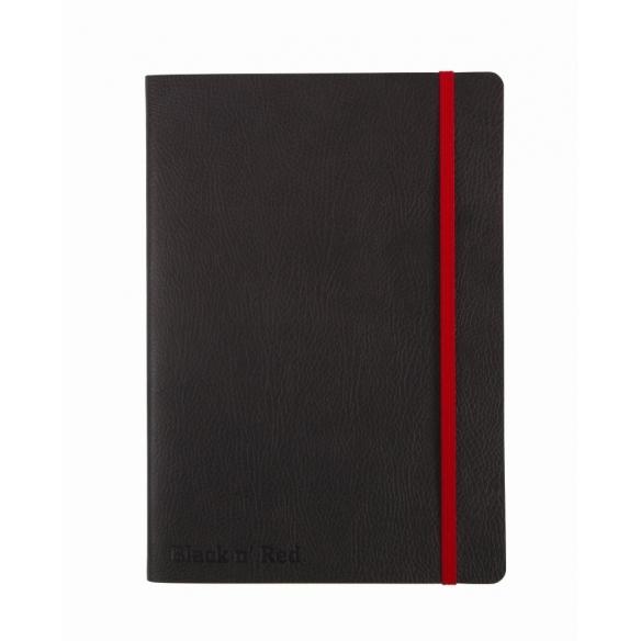 Black n Red Journal Zápisník A5 Černý Měkké Desky