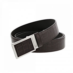Croco Dandy Belt Brown S.T. DUPONT - 1