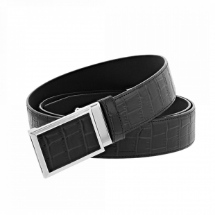 Croco Dandy Belt Black S.T. DUPONT - 1