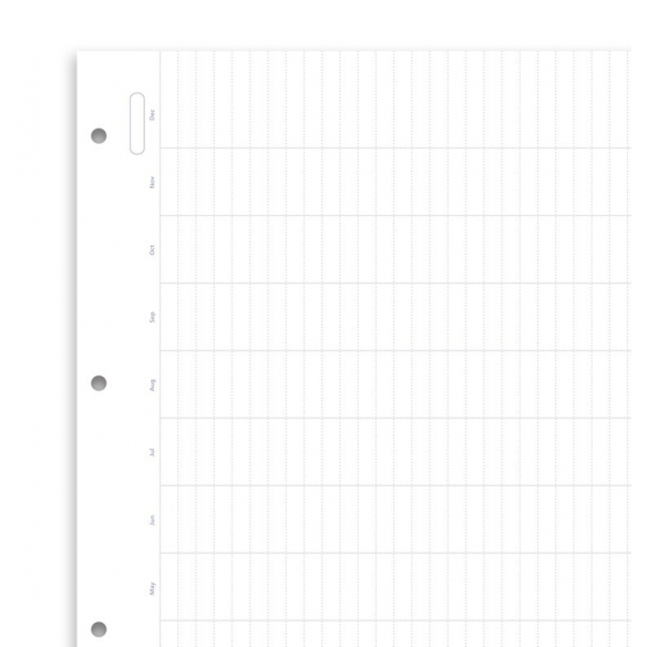 Clipbook Undated A4 Year Planner Refill FILOFAX - 2