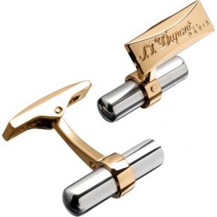 Batton Duo Cufflinks Palladium-Yellow Gold S.T. DUPONT - 1