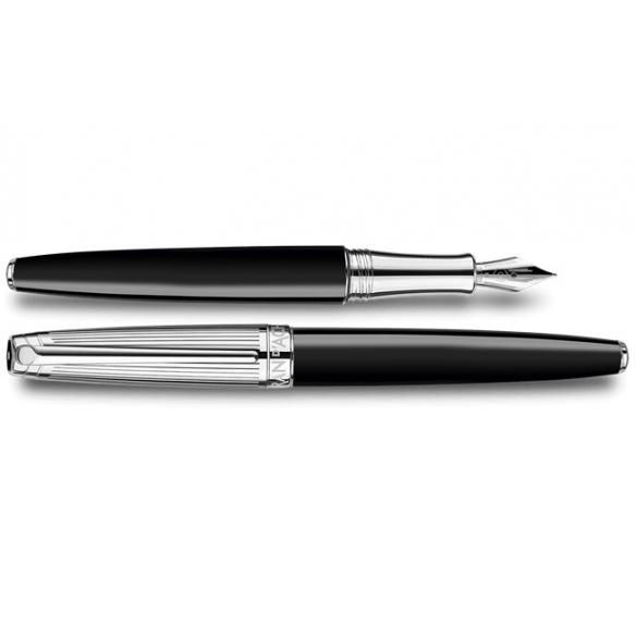 Bicolor Black silver plated fountain pen CARAN D'ACHE - 1
