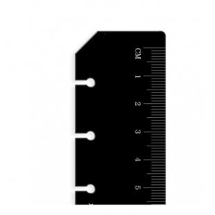 Ruler Page Marker A5 black