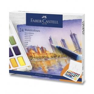 Vodové Farby s paletkou 24 farieb FABER-CASTELL - 1