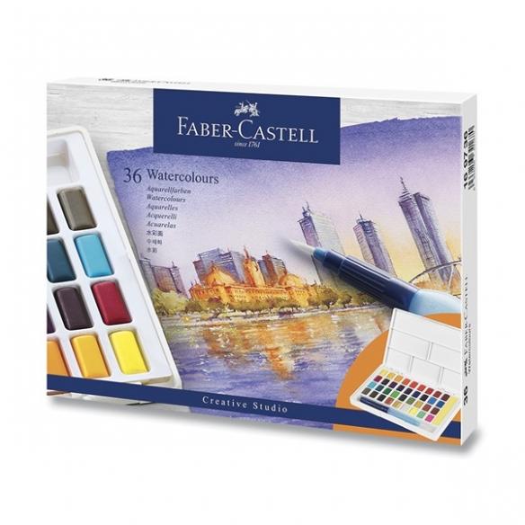 Vodové Farby s paletkou 36 farieb FABER-CASTELL - 1