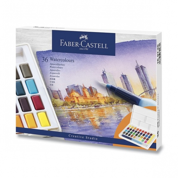Watercolours with 36 colours FABER-CASTELL - 1