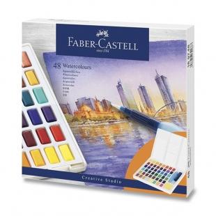 Vodové Farby s paletkou 48 farieb FABER-CASTELL - 1