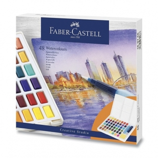 Watercolours with 48 colours