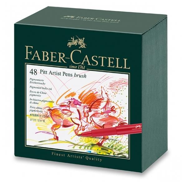 Pitt Artist Pen Brush Marker studio box 48 pcs FABER-CASTELL - 2