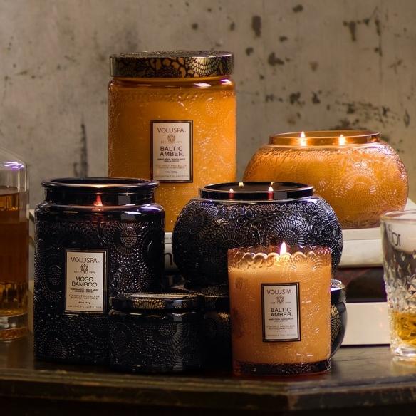 Baltic Amber veľká sklenená sviečka VOLUSPA - 3