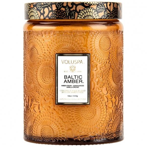 Baltic Amber Large Glass Jar Candle VOLUSPA - 1