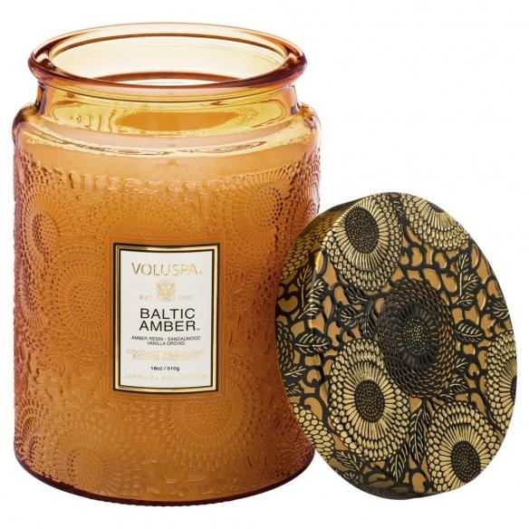 Baltic Amber Large Glass Jar Candle VOLUSPA - 2
