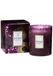 Santiago Huckleberry Scalloped Edge Candle