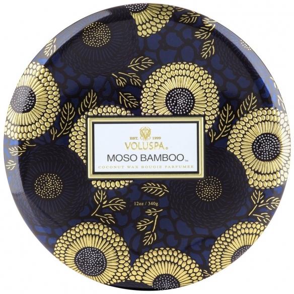 Moso Bamboo 3 Wick Tin Candle VOLUSPA - 2