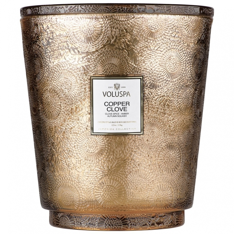 Copper Clove 5 Wick Hearth Candle