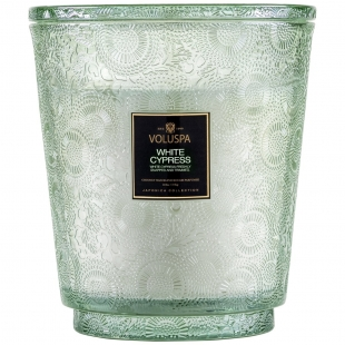 White Cypress 5 Wick Hearth...