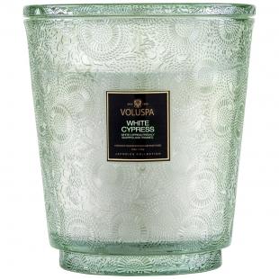 White Cypress kozubová sklenená sviečka VOLUSPA - 1