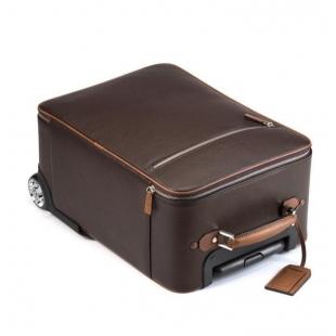 Trolley Cabin Bag Cestovná taška hnedá a karamel MONTEGRAPPA - 1