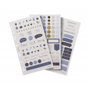 Indigo Multi-fit Stickers
