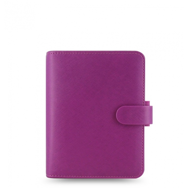 Saffiano Organiser Pocket Raspberry