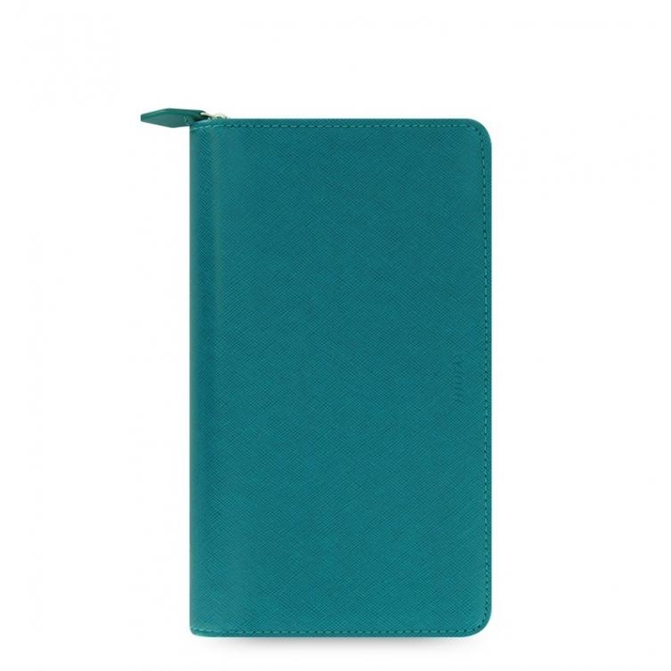 Saffiano Zip Organiser Compact Blue