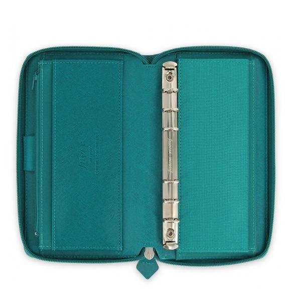 Saffiano Zip Organiser Compact Blue FILOFAX - 2