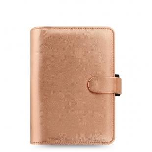 Saffiano Organiser Personal Rose Gold FILOFAX - 1