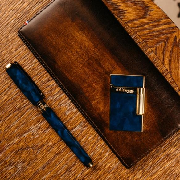 Atelier Blue Marine and Gold Zapaľovač S.T. DUPONT - 4