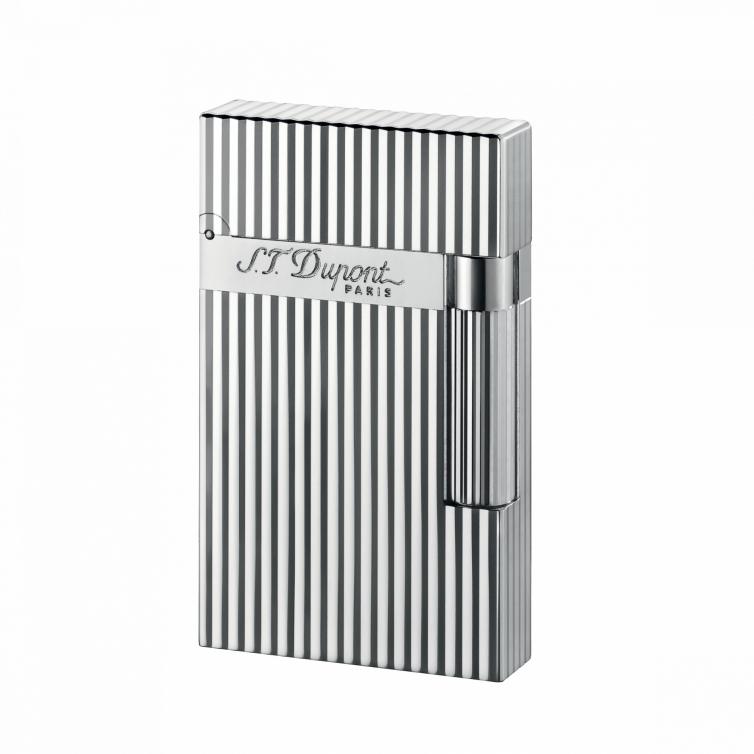 Silver Montparnasse Vertical Lines lighter S.T. DUPONT - 1