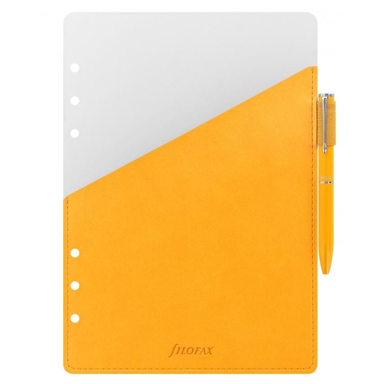 Guľôčkové pero s pútkom A5 žlté FILOFAX - 1
