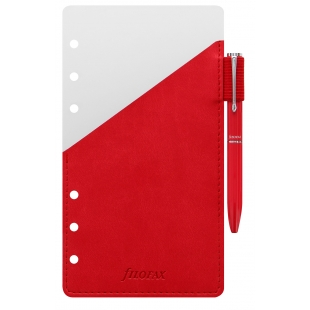 Ballpoint pen with pen holder Personal red FILOFAX - 1