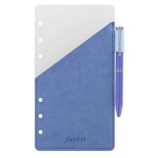 Ballpoint pen with pen holder Personal blue FILOFAX - 1