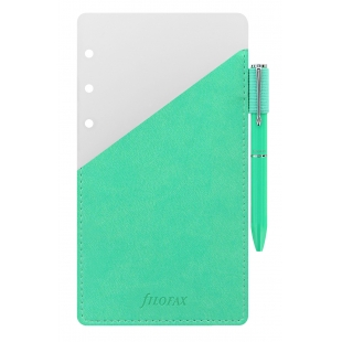 Ballpoint pen with pen holder Personal green FILOFAX - 1