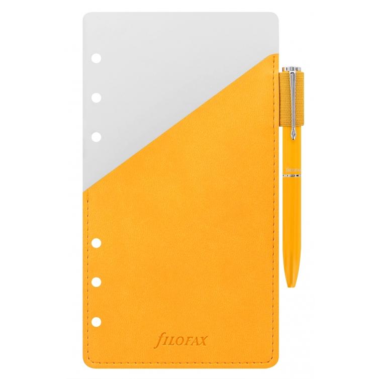 Guľôčkové pero s pútkom Osobné žlté FILOFAX - 1