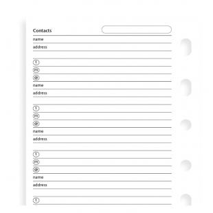 Contacts Value Pack Pocket Refill FILOFAX - 1