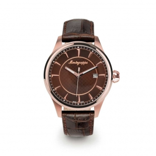 Fortuna 42 mm Watch rose gold brown MONTEGRAPPA - 1