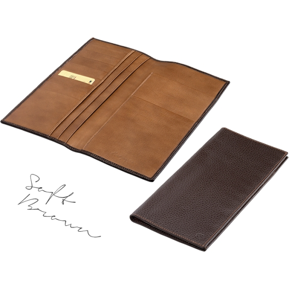 Travel Documents Case brown and caramel MONTEGRAPPA - 2