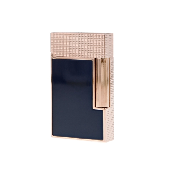 Line 2 Cling Lighter rose gold and blue lacquer S.T. DUPONT - 1