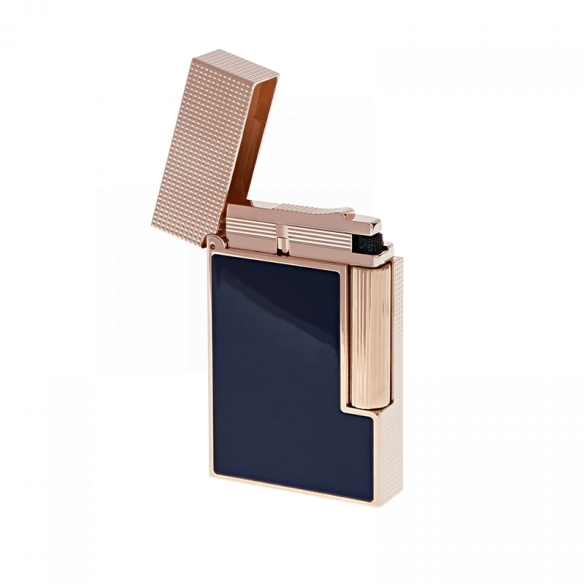 Line 2 Cling Lighter rose gold and blue lacquer S.T. DUPONT - 2