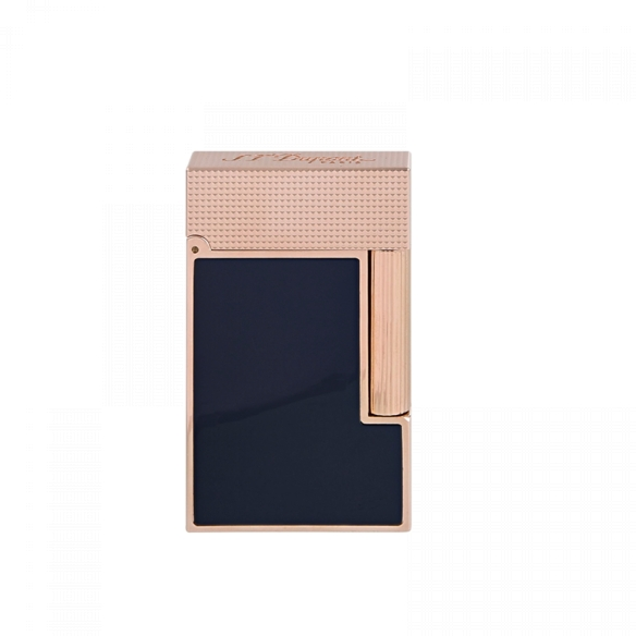 Line 2 Cling Lighter rose gold and blue lacquer S.T. DUPONT - 3