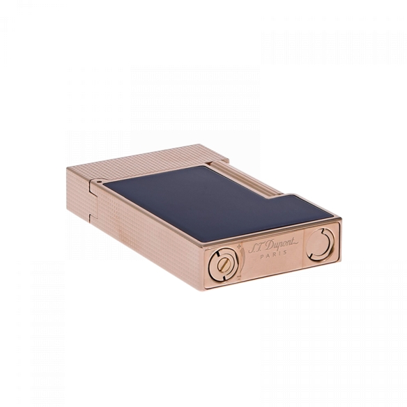 Line 2 Cling Lighter rose gold and blue lacquer S.T. DUPONT - 4
