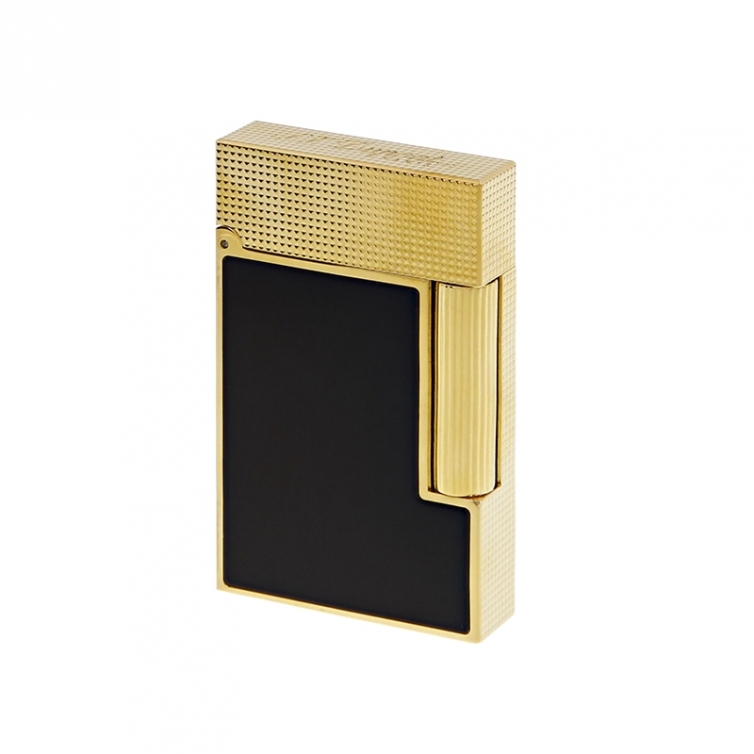 Line 2 Cling Lighter yellow gold and black lacquer S.T. DUPONT - 1