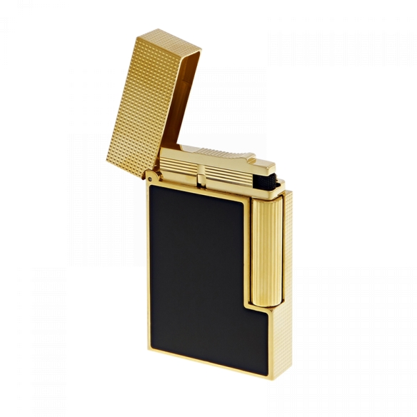 Line 2 Cling Lighter yellow gold and black lacquer S.T. DUPONT - 2