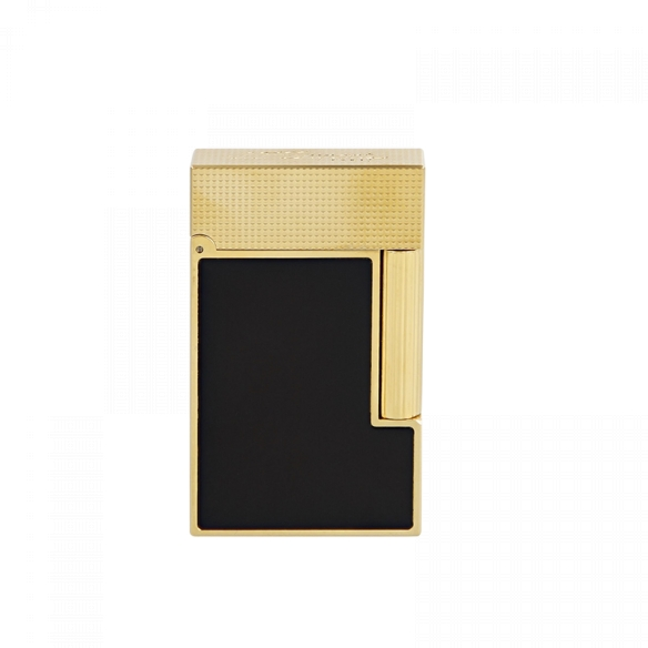 Line 2 Cling Lighter yellow gold and black lacquer S.T. DUPONT - 3