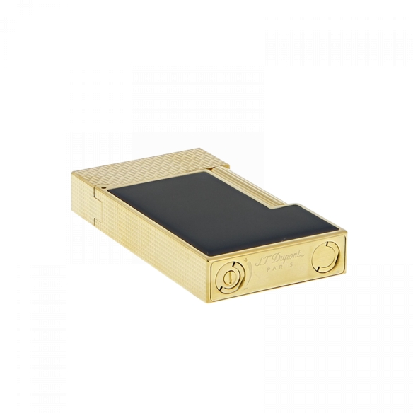 Line 2 Cling Lighter yellow gold and black lacquer S.T. DUPONT - 4